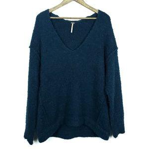 Free People Lofty V-Neck Sweater Oversized Shirt